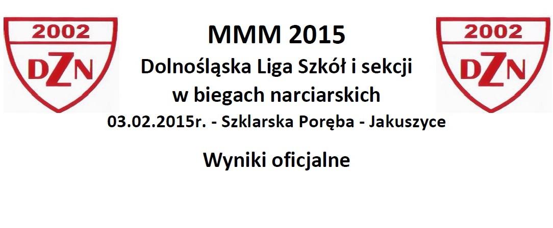 MMM 2015 – Wyniki
