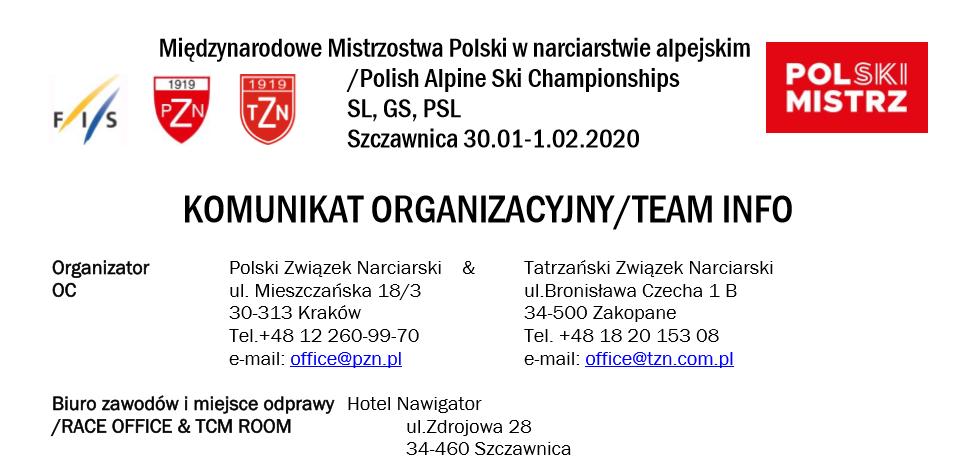 Międzynarodowe Mistrzostwa Polski w narciarstwie alpejskim /Polish Alpine Ski Championships SL, GS, PSL