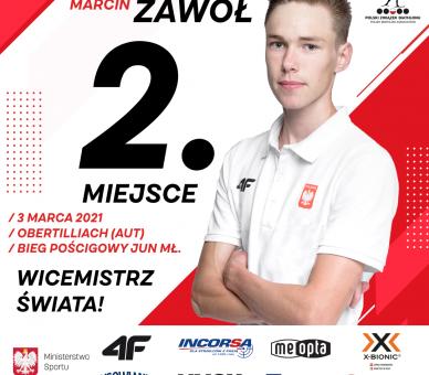 Marcin Zawół został wicemistrzem świata juniorów młodszych w biegu pościgowym!